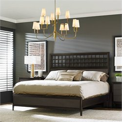 Stanley Furniture Wicker Park Wood Panel Bed in Brownstone - Queen