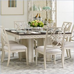Stanley Furniture Fairlane Double Pedestal Dining Table in Luna