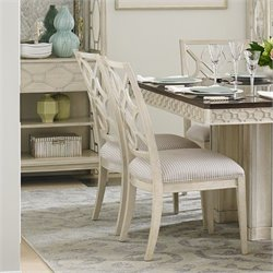 Stanley Furniture Fairlane Wood Side Chair in Luna