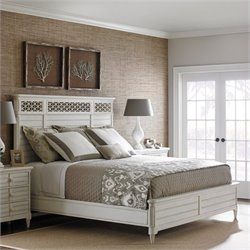 Stanley Furniture Cypress Grove Wood Panel Bed in Parchment - Queen