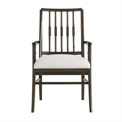 Stanley Furniture Crestaire Savoy Arm Dining Chair in Porter