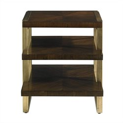 Stanley Furniture Crestaire Autry End Table in Porter