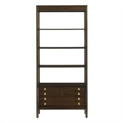 Stanley Furniture Crestaire Welton Bookcase in Porter