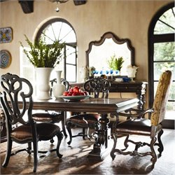 Stanley Furniture Costa Del Sol 7 Piece Dining Set in Cordova and Artisan