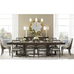 Stanley Furniture Crestaire 11 Piece Dining Set in Porter