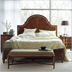 Stanley Furniture Avalon Heights 4-Piece Panel Bedroom Set in Chelsea with Bench