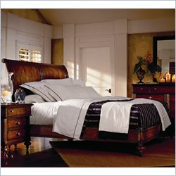 Stanley Furniture British Colonial 4-Piece Sleigh Bedroom Set in Caribe