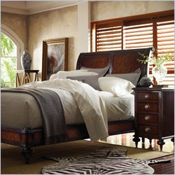 Stanley Furniture British Colonial 3-Piece Sleigh Bedroom Set in Caribe