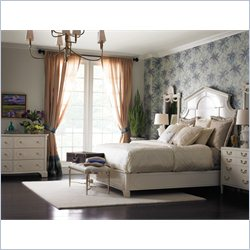 Stanley Furniture Charleston Regency 5-Piece Bedroom Set in Ropemakers White with Bench