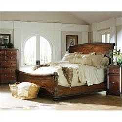 Stanley Furniture Continental 3-Piece Sleigh Bedroom Set in Barrel