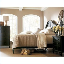 Stanley Furniture European Cottage 3-Piece Bedroom Set in Chalkboard