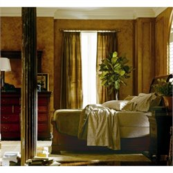 Stanley Furniture Louis Philippe 4-Piece Sleigh Bedroom Set in Orleans with Mirror