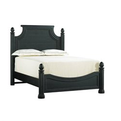 Arrondissement Panel Bed in Rustic Charcoal