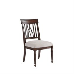 Stanley Villa Couture Lucca Side Chair in Mottled Walnut