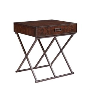 Stanley Villa Couture Rocco End Table in Mottled Walnut