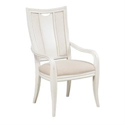 American Drew Siesta Sands Dining Arm Chair in White Sands