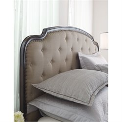 American Drew Grantham Hall King Upholstered Panel Headboard in Coffee
