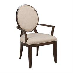 American Drew Grantham Hall Upholstered Dining Arm Chair in Coffee
