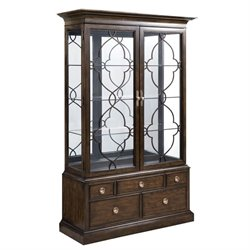 American Drew Grantham Hall Curio Cabinet in Coffee