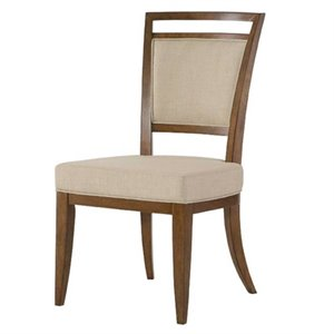 American Drew Grove Point Upholstered Dining Chair in Chocolate