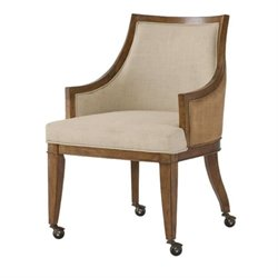 American Drew Grove Point Game Chair in Chocolate