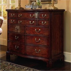 American Drew Cherry Grove 12 Drawer Double Dresser in Antique Cherry Finish