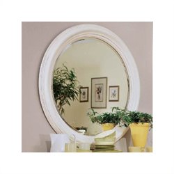 American Drew Camden Round Mirror in Buttermilk Finish