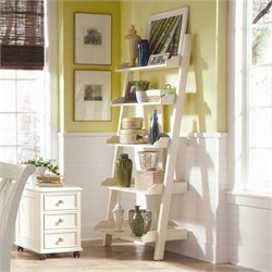 American Drew Camden Ladder Wall Storage Bookcase in Buttermilk