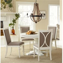 American Drew Lynn Haven 5 Piece Extendable Dining Set in White
