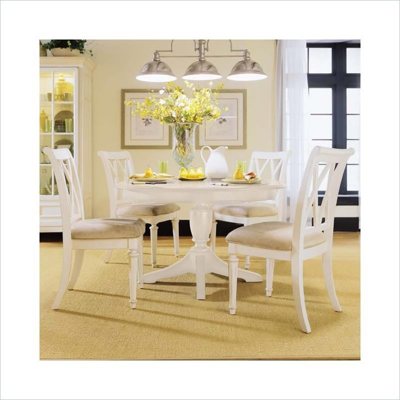 Camden 7 Piece Casual Dining Set in Buttermilk Finish