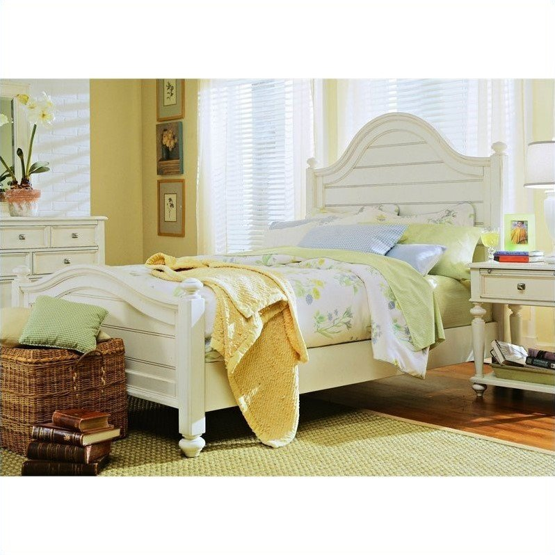 Camden Wood Panel Bed 3 Piece Bedroom Set in Buttermilk