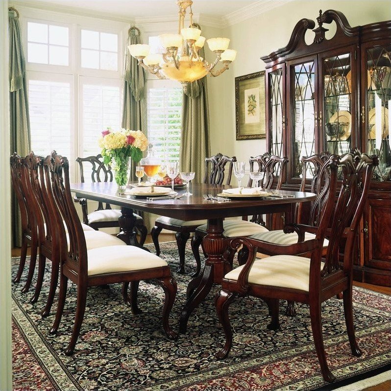 American Drew Dining Room Furniture: American Drew Cherry Grove 9 Piece Dining Set In Antique