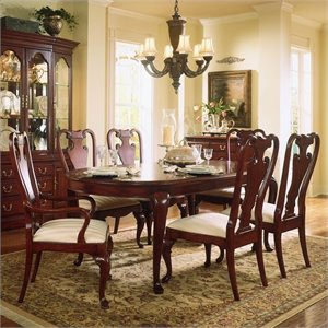 American Drew Cherry Grove 7 Piece Oval Casual Dining Set in Cherry