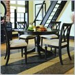 American Drew Camden 7 Piece Casual Dining Table Set in Black