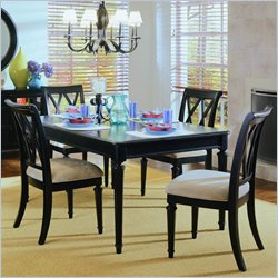 American Drew Camden 7 Piece Rectangular Casual Dining Set in Black