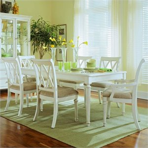 American Drew Camden 7 Piece Rectangular Dining Set in Buttermilk