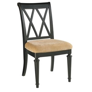American Drew Camden Splat Back Wood Dining Chair in Black