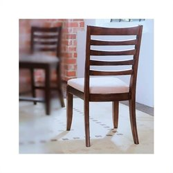 American Drew Tribecca Splat  Fabric Casual Dining Chair in Dark Root Beer Finish