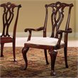 American Drew Cherry Grove Pierced Back Dining Arm Chair in Cherry