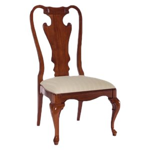 American Drew Splat Back Wood Dining Chair in Antique Cherry