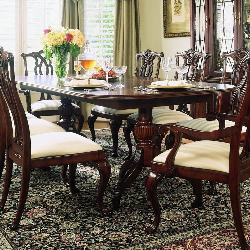 American Drew Dining Room Furniture: American Drew Cherry Grove Pedestal Formal Dining Table In