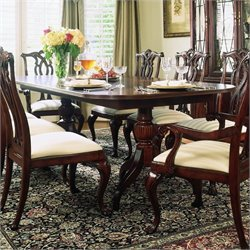 American Drew Cherry Grove Pedestal Formal Dining Table in Cherry