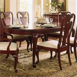 American Drew Cherry Grove Oval Leg Formal Dining Table in Cherry Finish