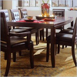 American Drew Tribecca Leg Casual Dining Table in Root Beer Brown Finish