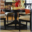 ADD TO YOUR SET: American Drew Camden Round/Oval Casual Dining Table in Black Finish