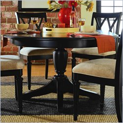 American Drew Camden Round/Oval Casual Dining Table in Black Finish
