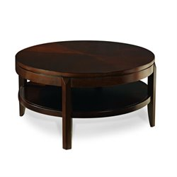 American Drew Tribecca Round Wood Top Cocktail Table