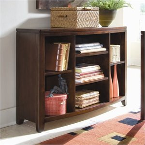 American Drew Tribecca Bookcase Console in Root Beer Finish