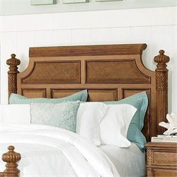 American Drew Grand Isle Island Panel Headboard in Amber Finish - King / California King