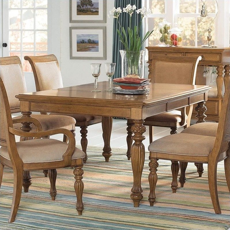 Grand Isle Rectanular Dining Table in Amber Finish